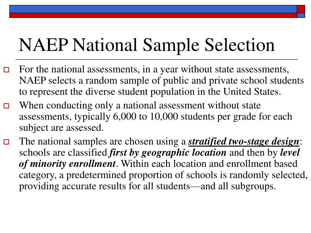 NAEP National Sample Selection