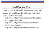 naep on the web