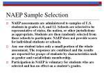 naep sample selection