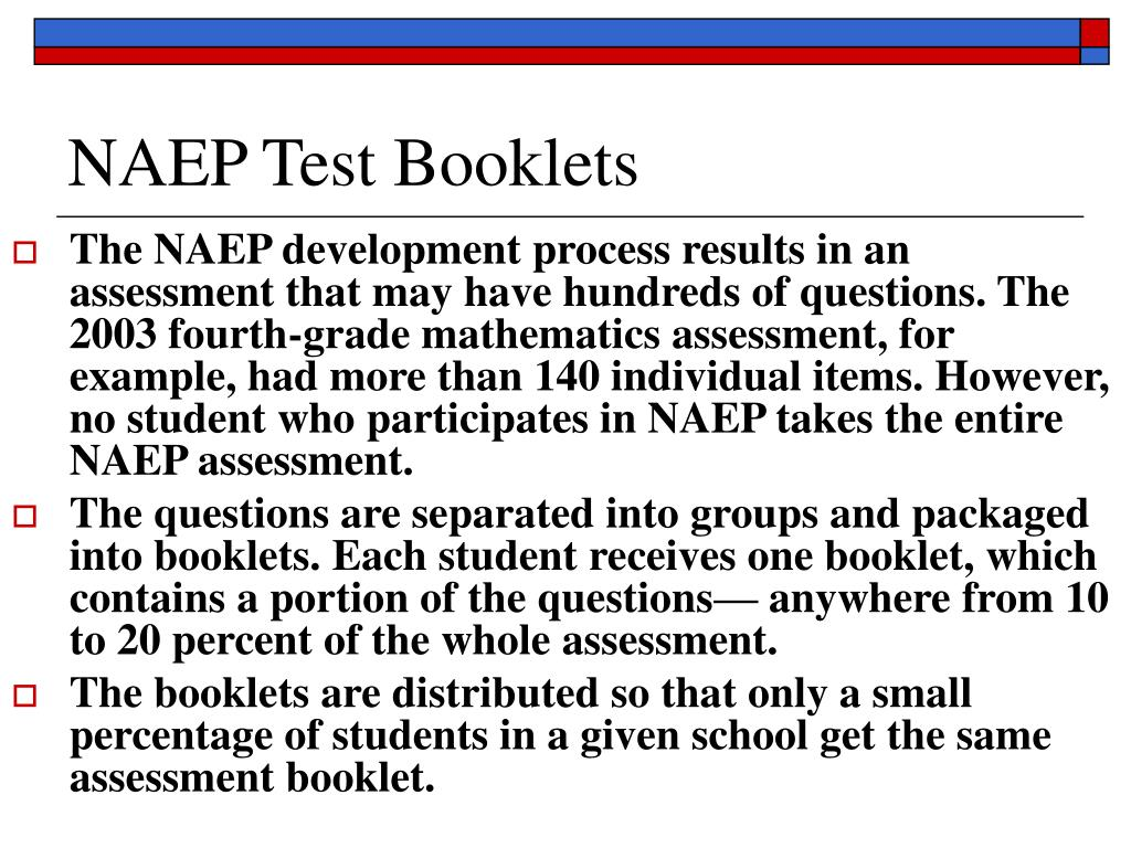 NAEP Test Booklets