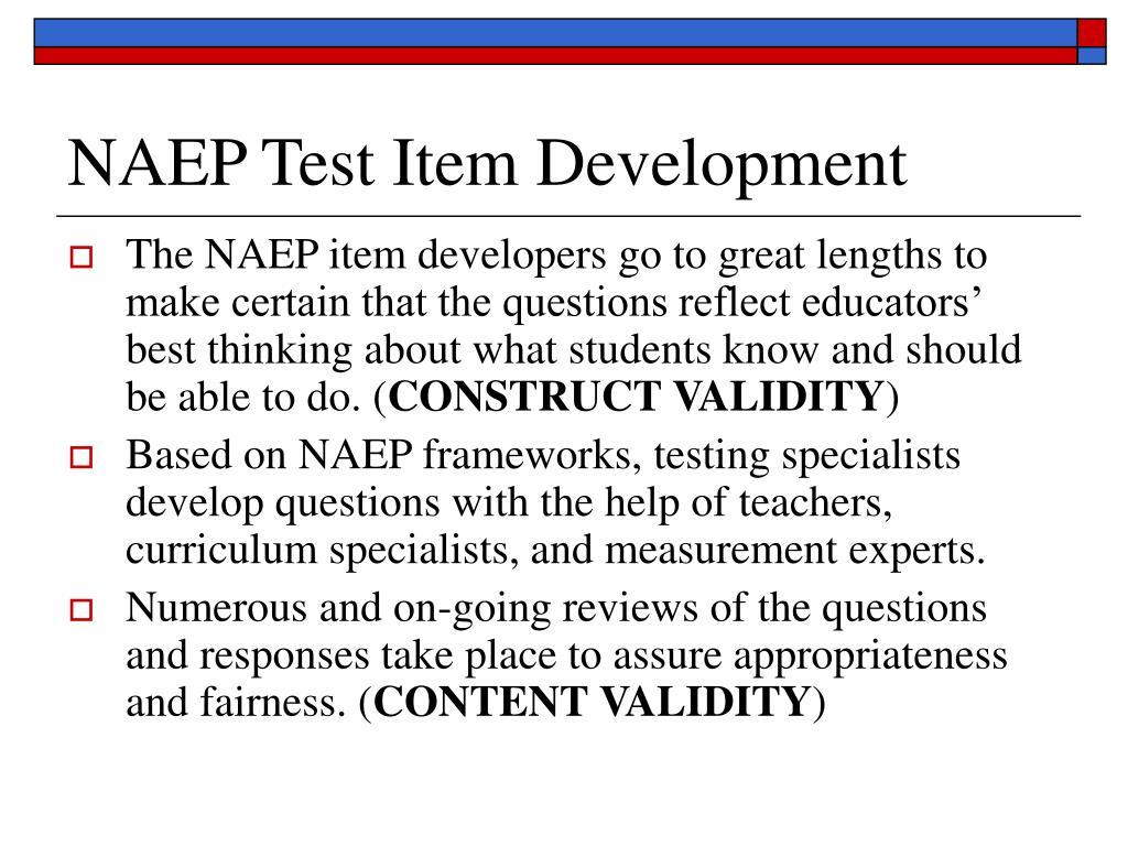 NAEP Test Item Development