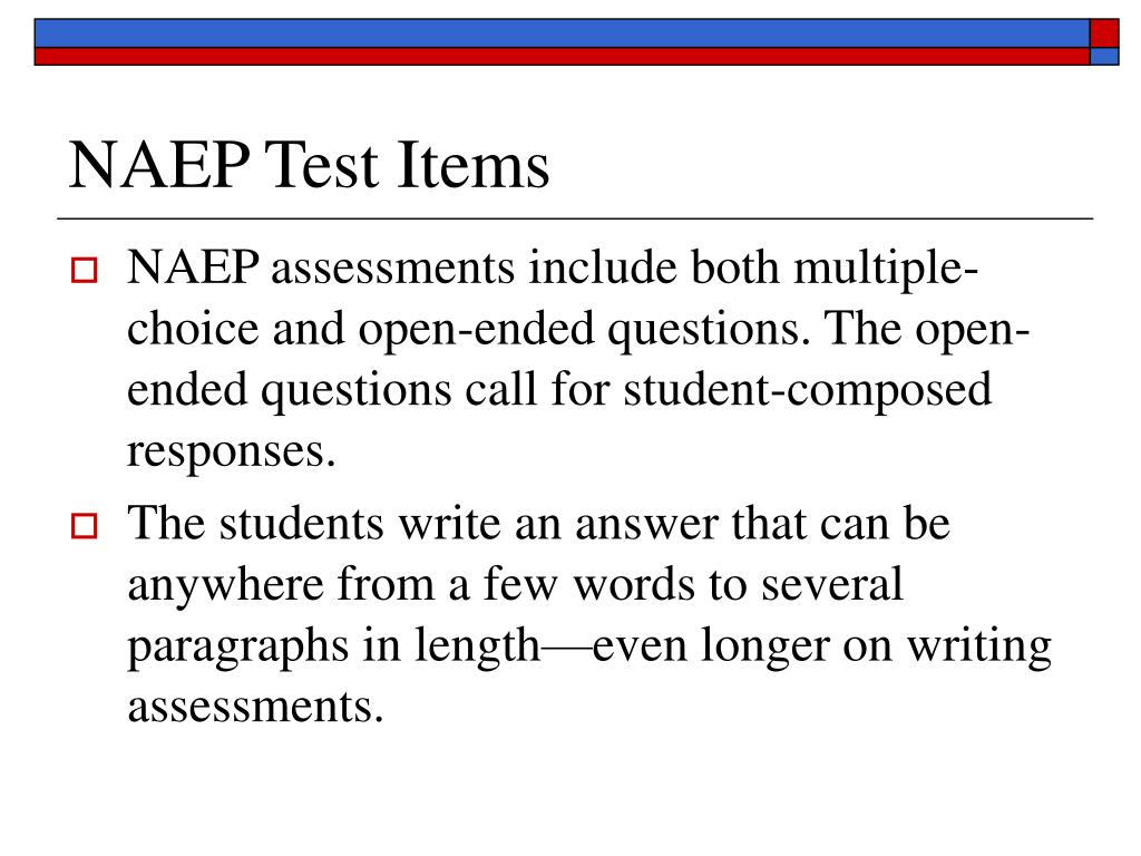 NAEP Test Items