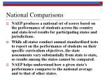 national comparisons