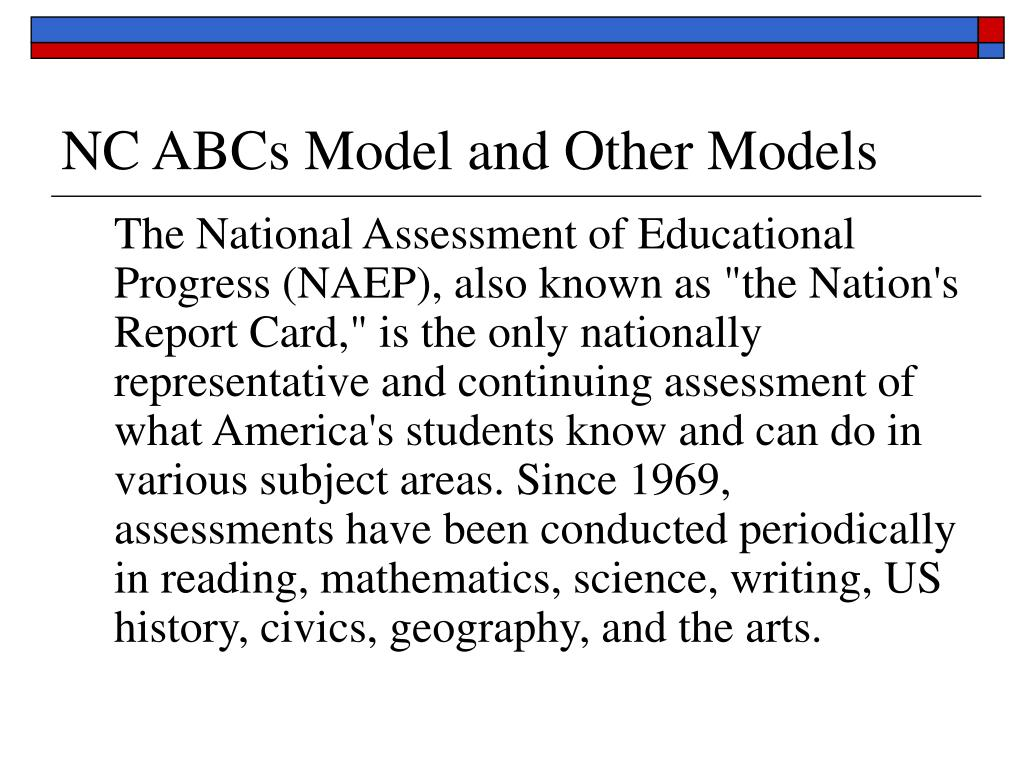 NC ABCs Model and Other Models