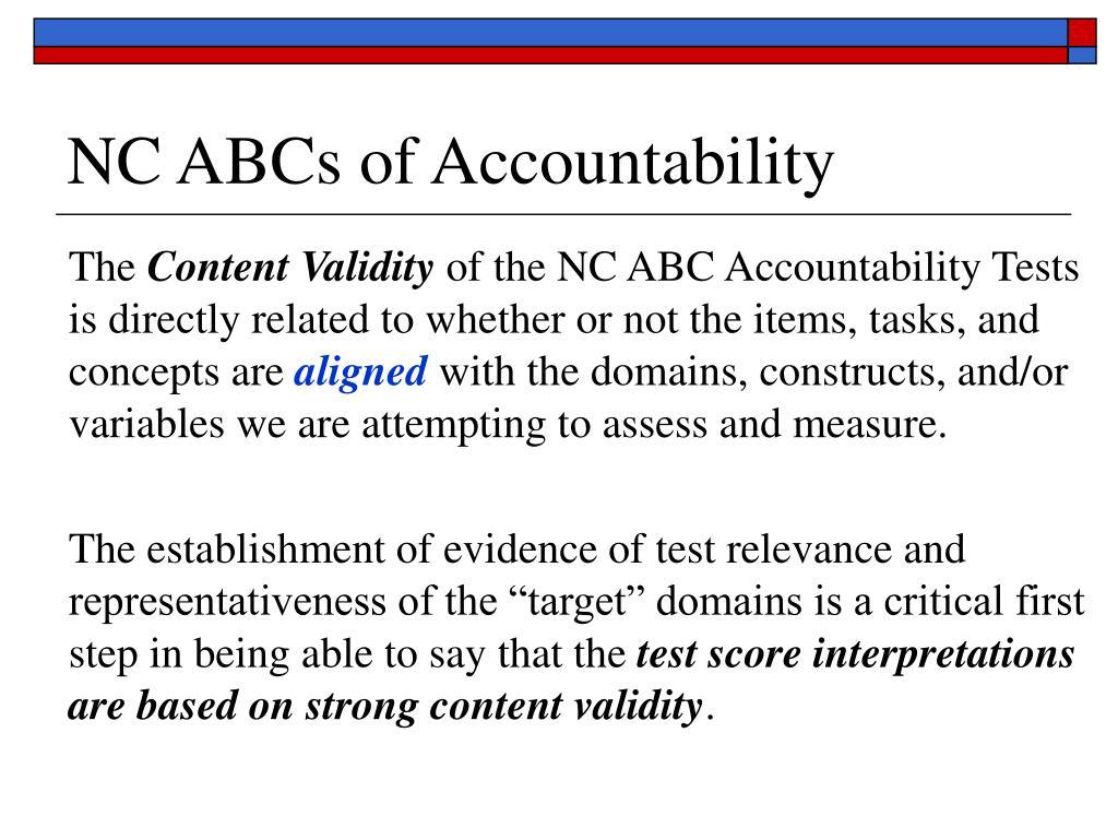 NC ABCs of Accountability