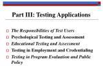 part iii testing applications