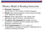 phonics model of reading instruction