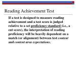 reading achievement test