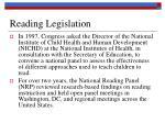 reading legislation