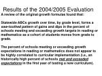 results of the 2004 2005 evaluation