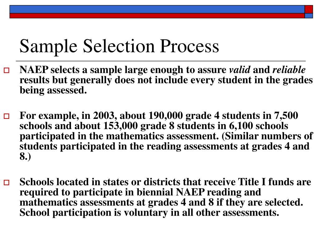 Sample Selection Process