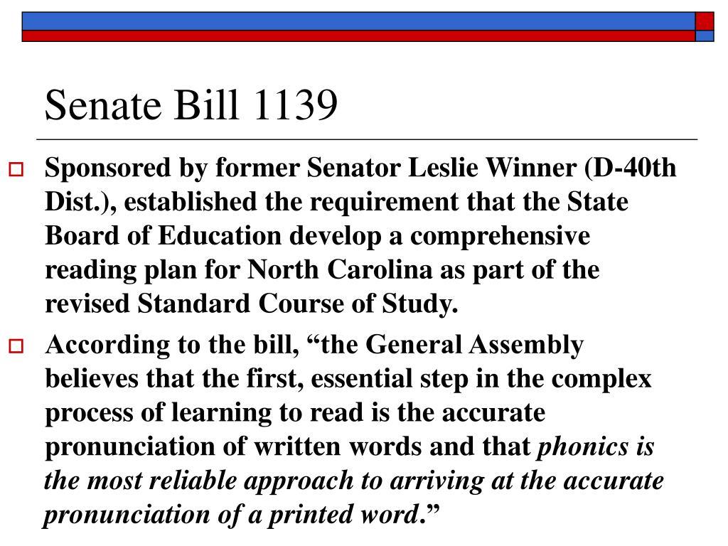 Senate Bill 1139