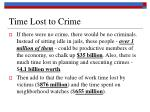 time lost to crime