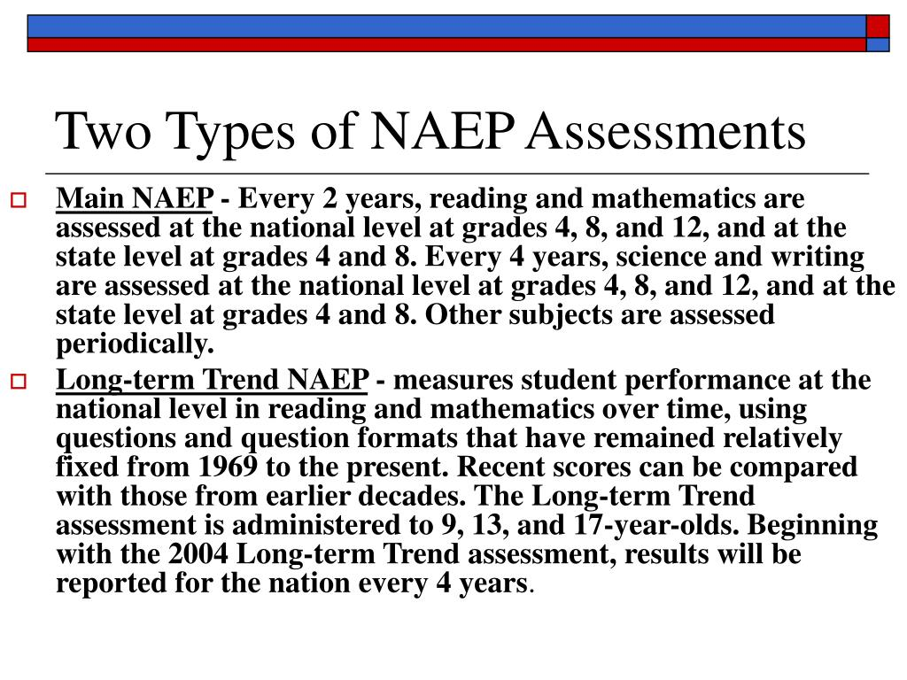Two Types of NAEP Assessments
