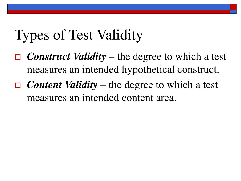 Types of Test Validity