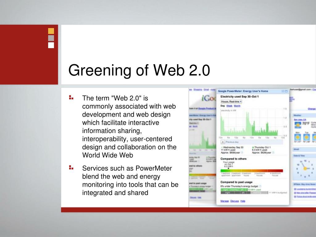 Greening of Web 2.0