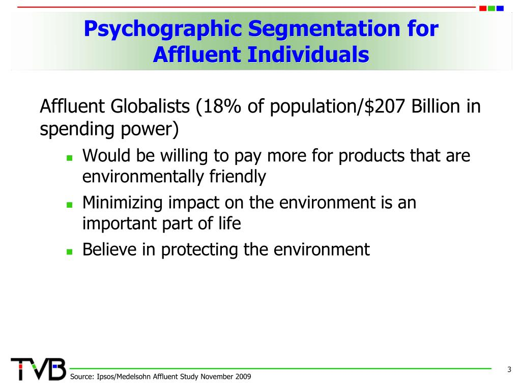 Psychographic Segmentation for