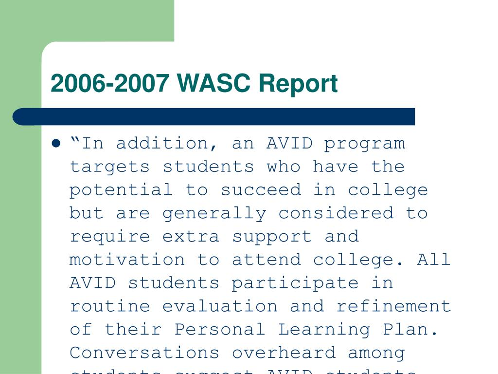 2006-2007 WASC Report