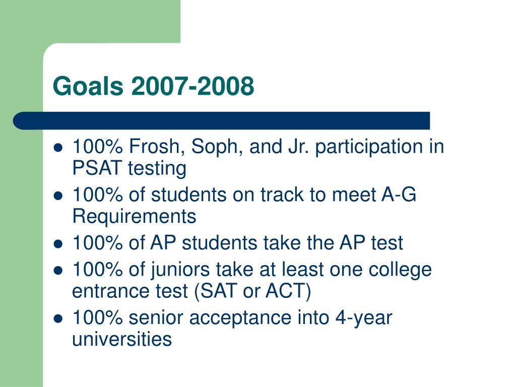 Goals 2007-2008