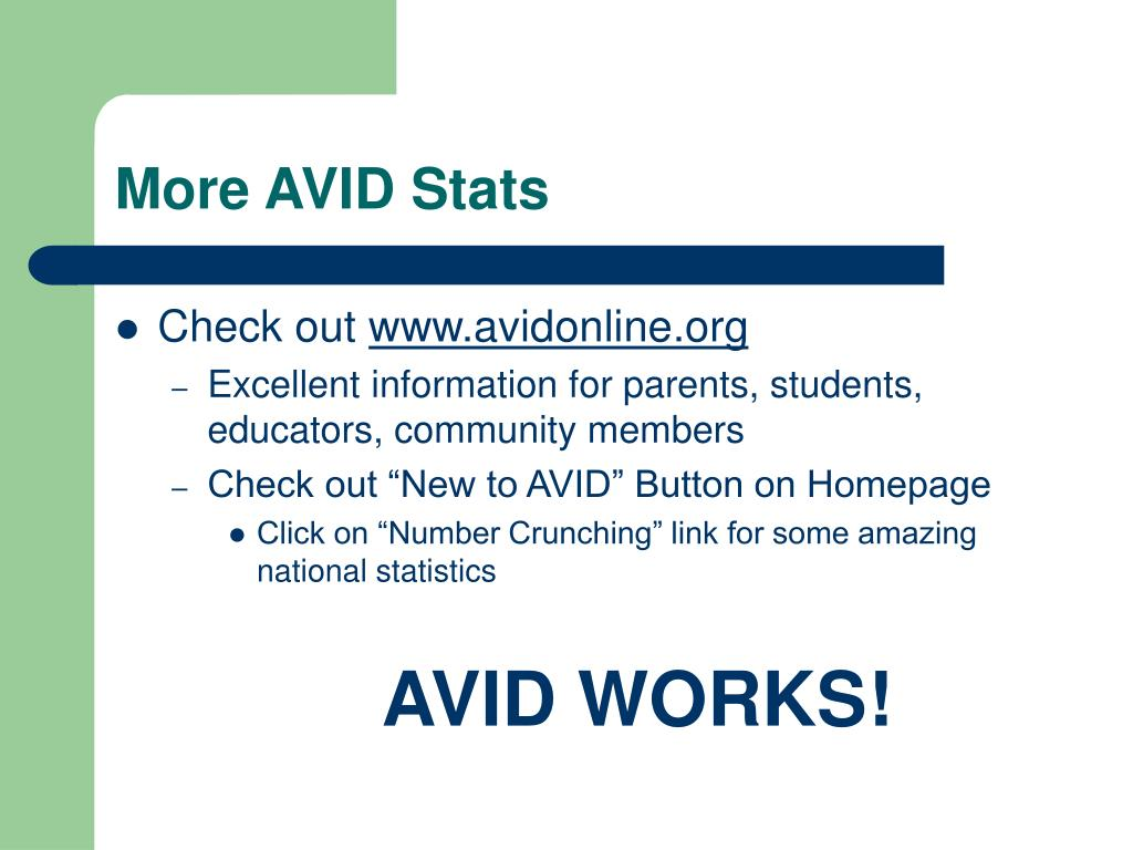 More AVID Stats