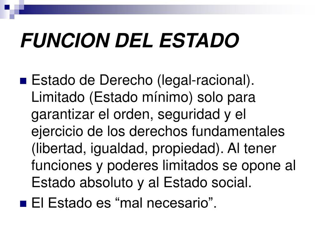 FUNCION DEL ESTADO