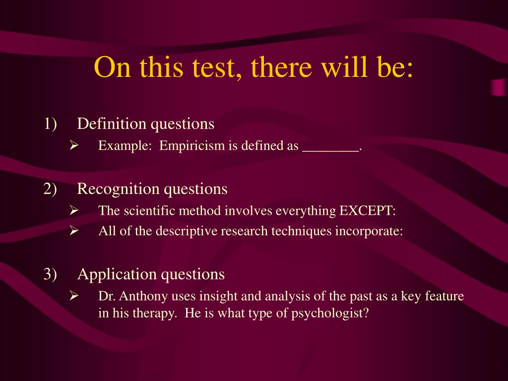 On this test, there will be: