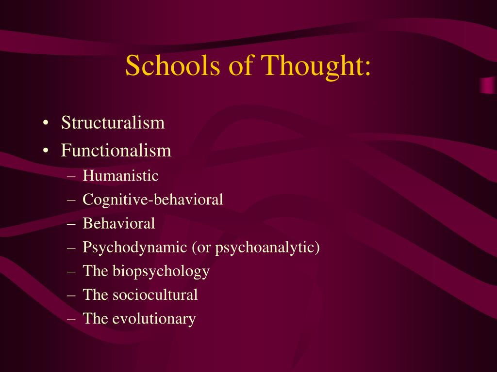 Schools of Thought: