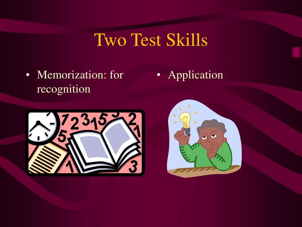 Memorization: for recognition