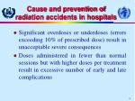 cause and prevention of radiation accidents in hospitals10