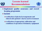 lessons learned recommendations18