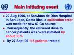 main initiating event