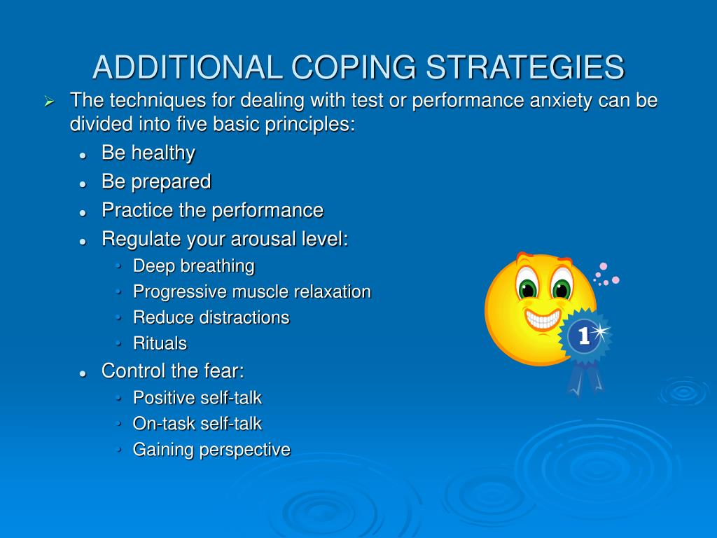 ADDITIONAL COPING STRATEGIES