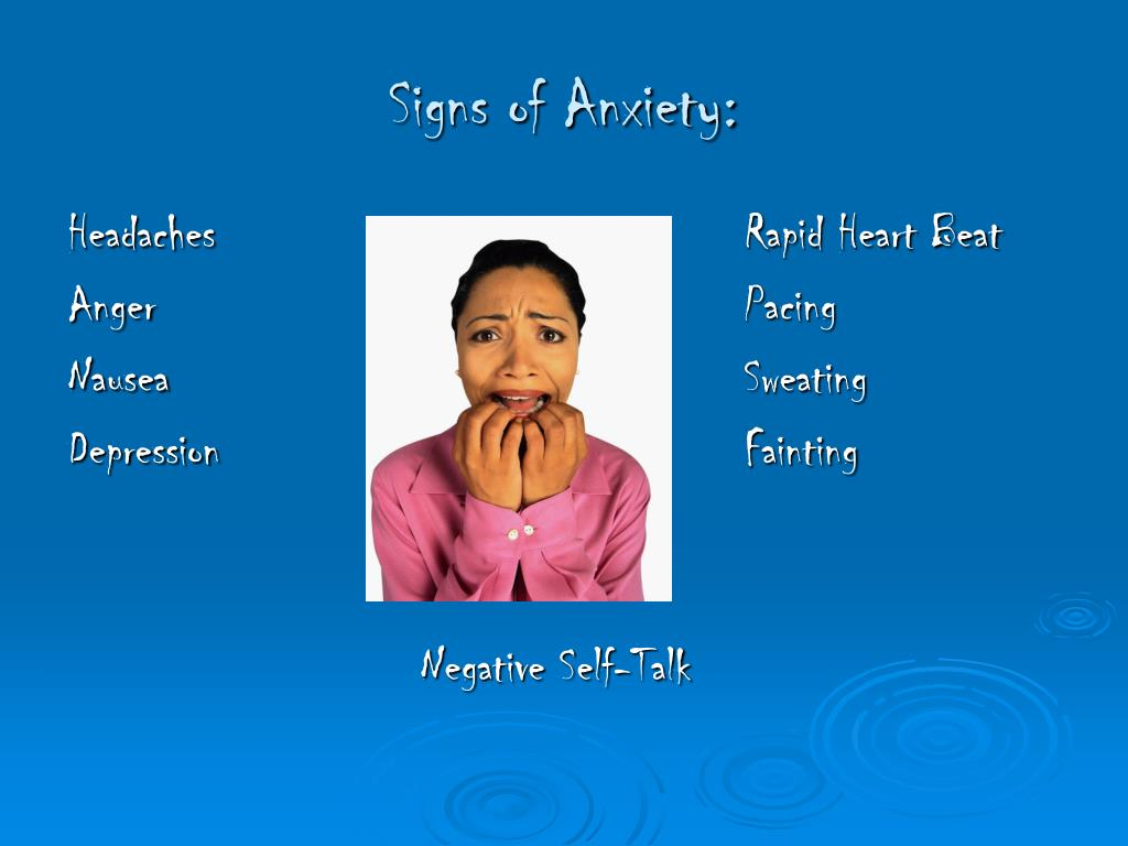 Signs of Anxiety: