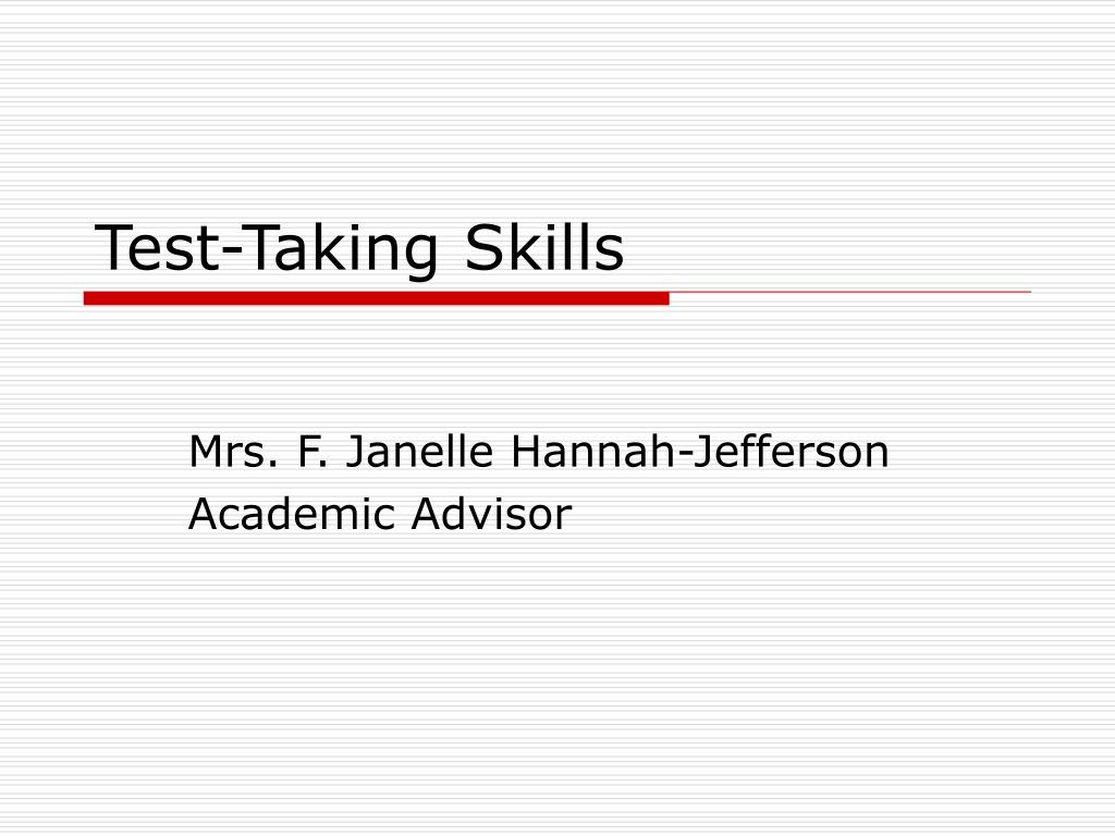 Test-Taking Skills