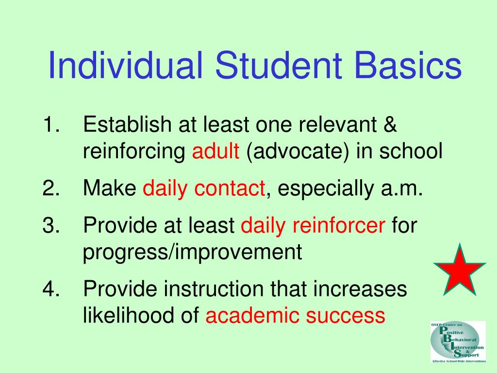 Individual Student Basics