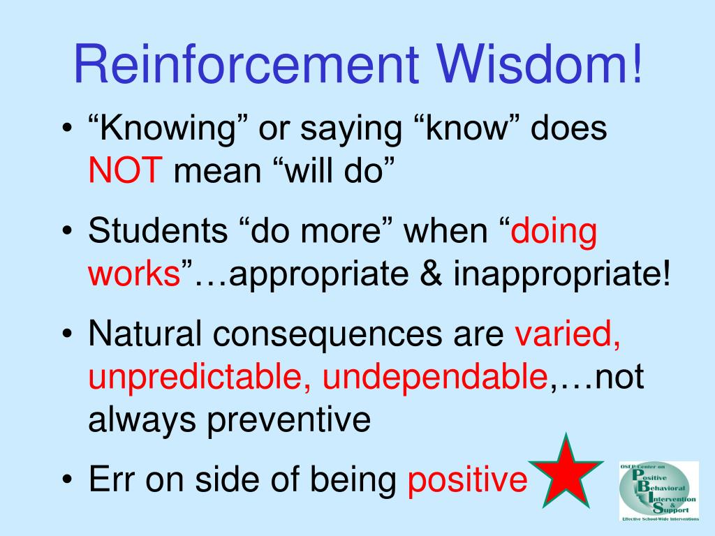 Reinforcement Wisdom!