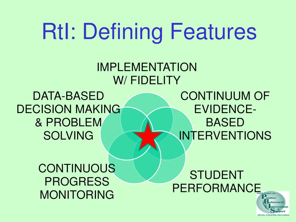 RtI: Defining Features