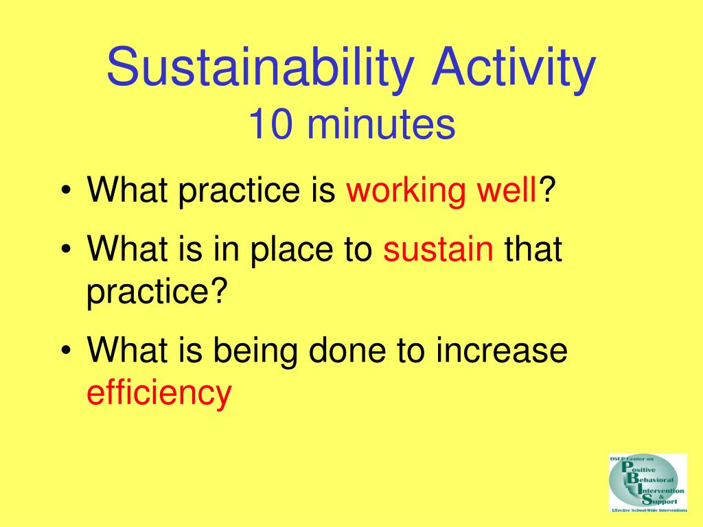Sustainability Activity