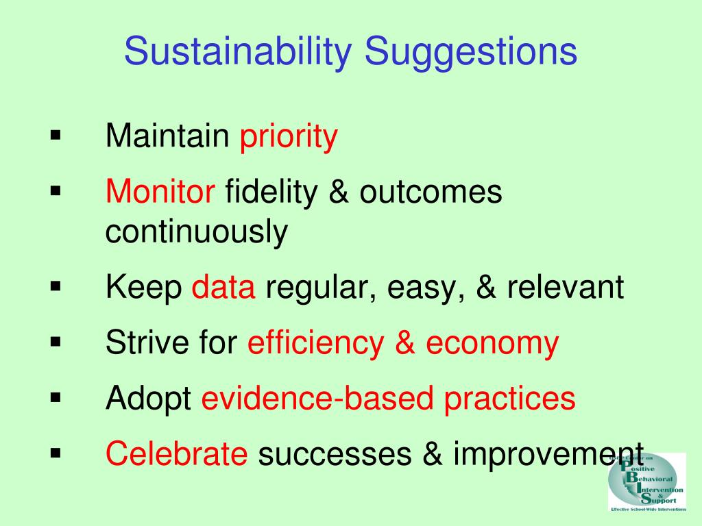 Sustainability Suggestions