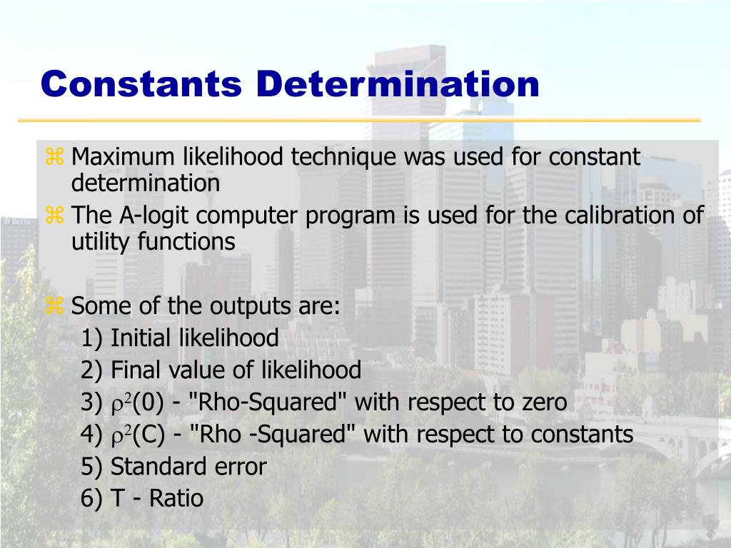 Constants Determination