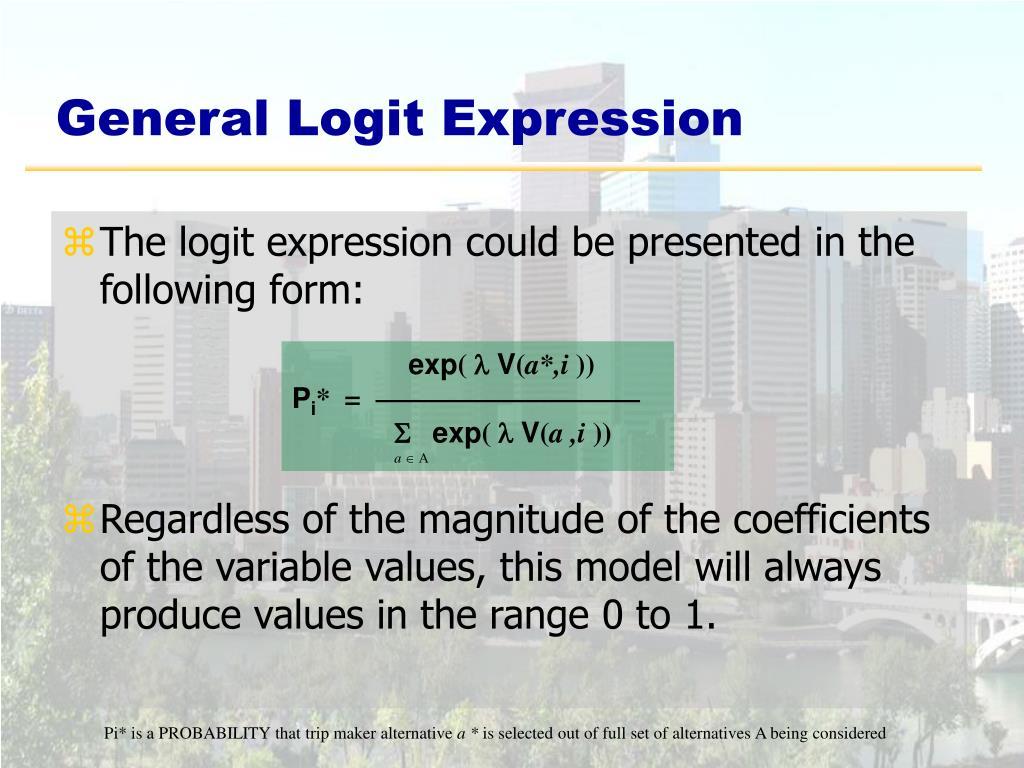 General Logit Expression