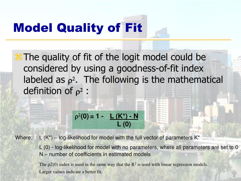 Model Quality of Fit