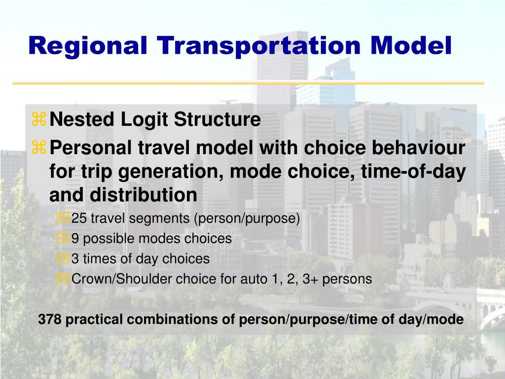 Regional Transportation Model
