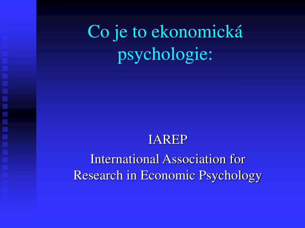 Co je to ekonomická psychologie:
