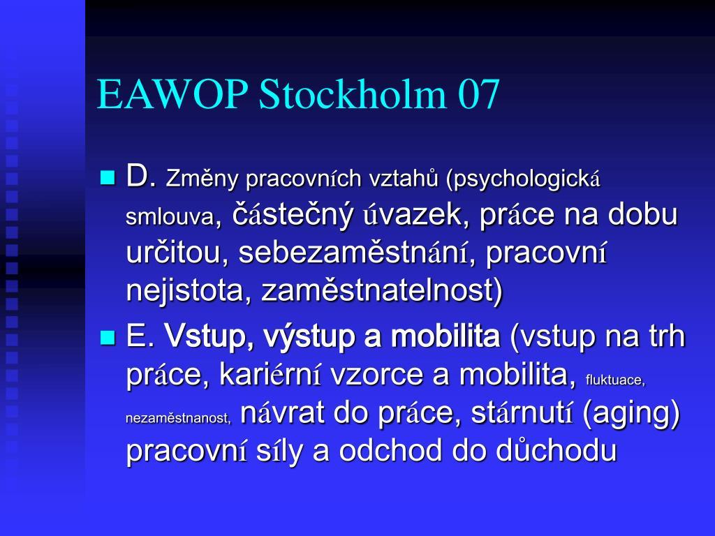 EAWOP Stockholm 07