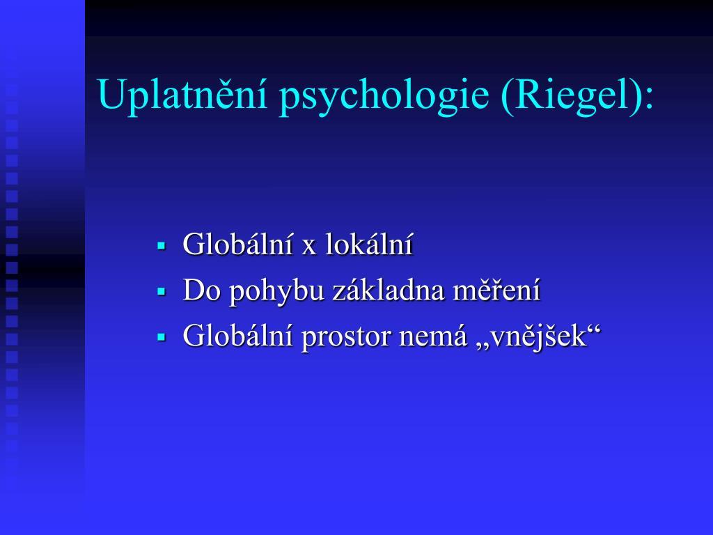 Uplatnění psychologie (Riegel):