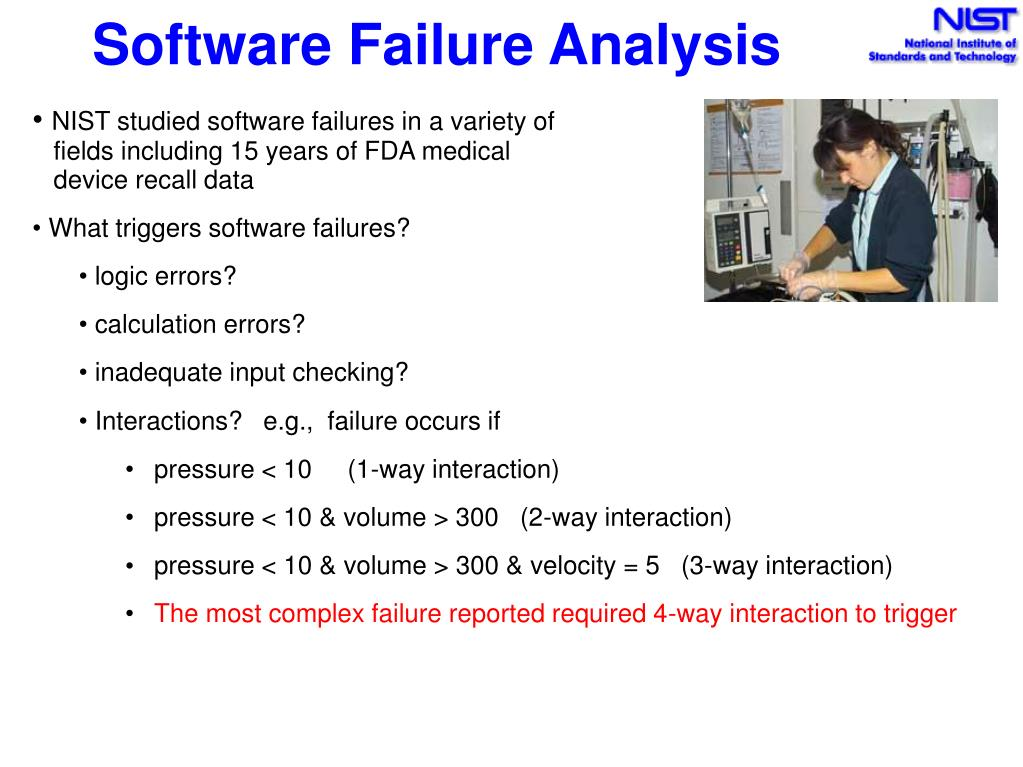 Software Failure Analysis