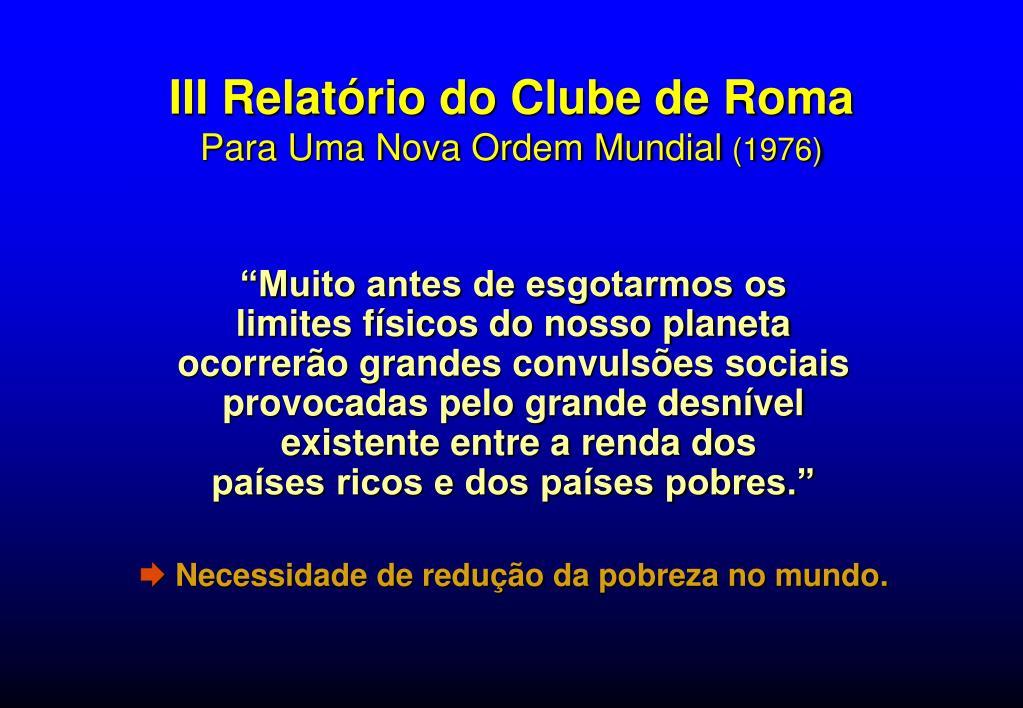 III Relatório do Clube de Roma