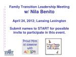 family transition leadership meeting w nila benito