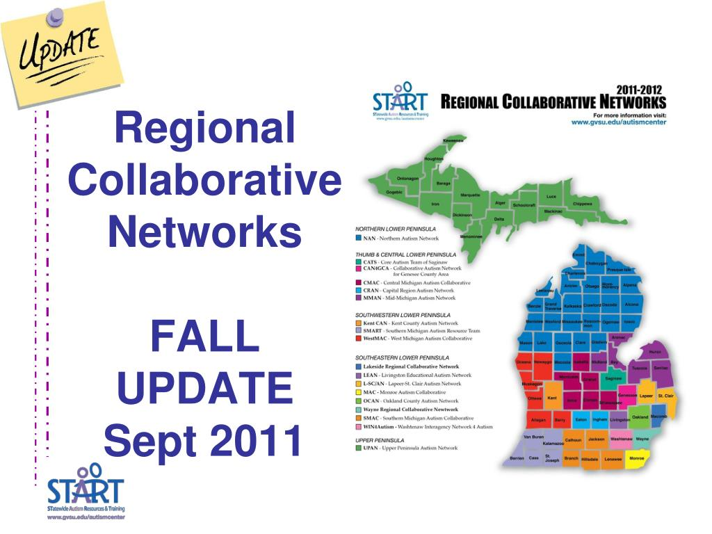 regional collaborative networks fall update sept 2011